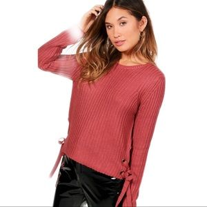 NEW Sweater Lightweight Side Lace Sides Large
